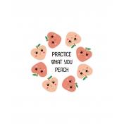 Cute Fruits Art Print 11 8x10