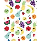Cute Fruits Art Print 13 8x10