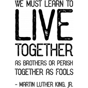 Public Discourse Word Art Live Together