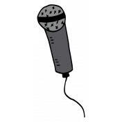Art School Sticker Microphone