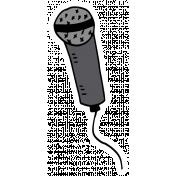 Art School Sticker Microphone
