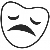 Art School Sticker Sad Face 2