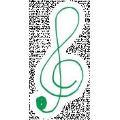 Art School Music Doodle Treble Clef 2