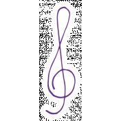 Art School Music Doodle Treble Clef 3