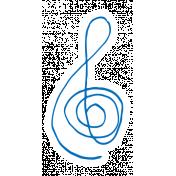 Art School Music Doodle Treble Clef 4
