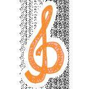 Art School Music Doodle Treble Clef 5