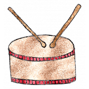 Art School Glitter Music Doodle Drum
