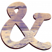 Cozy Day Wood Ampersand