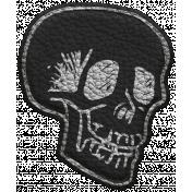 Halloween Leather Skull