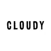 Softly Falling Label Cloudy