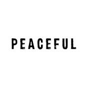 Softly Falling Label Peaceful