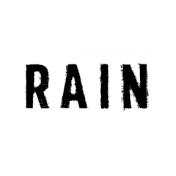 Softly Falling Label Rain