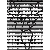 Deer 1 Outline