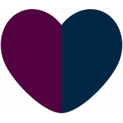 At The Table Heart Purple Blue