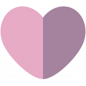 At The Table Heart Pink Purple