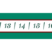At The Table Border Numbers