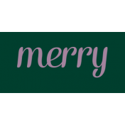 At The Table Label Merry