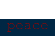 At The Table Label Peace