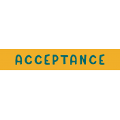 Tangible Hope Label Acceptance