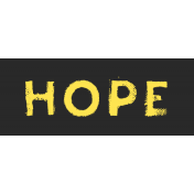 Tangible Hope Label Hope