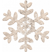 Winter Day Chipboard Snowflake 1 Paint