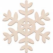 Winter Day Chipboard Snowflake 1