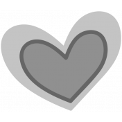 Winter Day Heart Doodle 1 Template