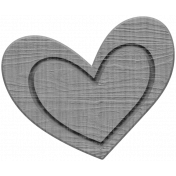 Winter Day Heart Doodle 1 Wood Template