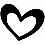 Winter Day Heart Doodle 2 Template