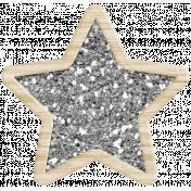 Winter Fun Glitter Star Template