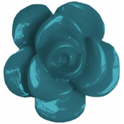 Plastic Blue Flower