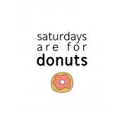 Foodie Art Print Donuts 3x4