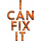 Handy People Word Art I Can
