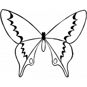Spring Day Butterfly Template