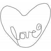 Spring Day Heart Love Template
