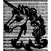 Vintage Unicorn 2 Template Illustration
