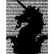 Vintage Unicorn 4 Template Illustration
