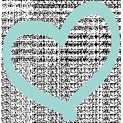 Pretty Things Print Kit- Print Heart Blue