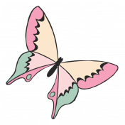 Spring Day Print Kit - Sticker Butterfly 1