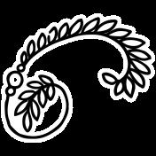 Spring Day Print Kit- Flower Swirl Sticker 4