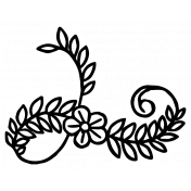 Spring Day Print Kit- Flower Swirl Sticker 3