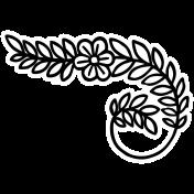 Spring Day Print Kit- Flower Swirl Sticker 2