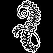Spring Day Print Kit- Flower Swirl Sticker 1