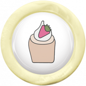 Unicorn Tea Party Element- Flair Cupcake