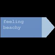 Coastal Print- Feeling Beachy Tag
