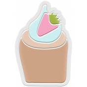 Unicorn Tea Party Element- Rubber Cupcake