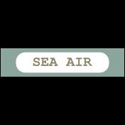 Coastal Print- Label Sea air