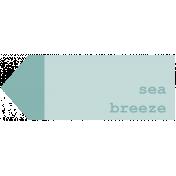Coastal Print- Label Sea Breeze