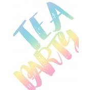 Unicorn Tea Party- Tea Card 01 3x4