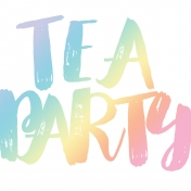 Unicorn Tea Party- Tea Card 01 4x4